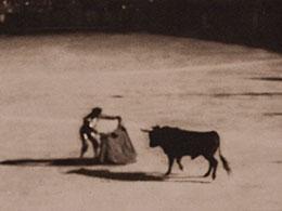 Une corrida en 1908, une scène illustrant une texte de Yann Febvre pour Magazine Aléatoire.