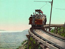 Un tramway des années 1800.
