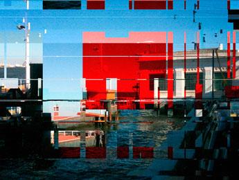 Un paysage portuaire, une image de Yann Febvre illustrant une de ses chroniques pour Magazine Aléatoire.